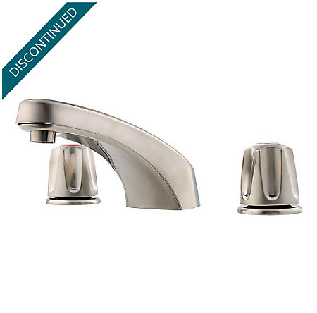 Brushed Nickel Pfirst Series 3 Hole Roman Tub - 1T6-400K - 1