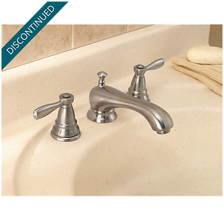 Brushed Nickel Portland Widespread Bath Faucet - T49-PK00 - 2