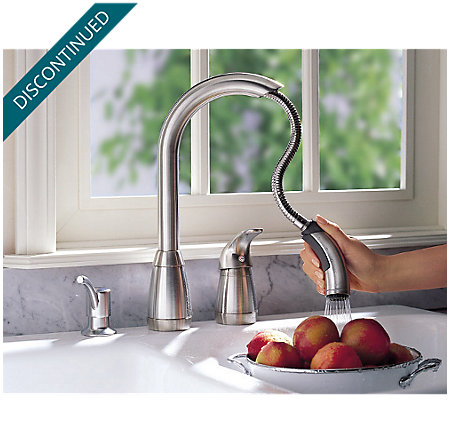 stainless steel contempra 1-handle kitchen faucet - 526-50ss - 7