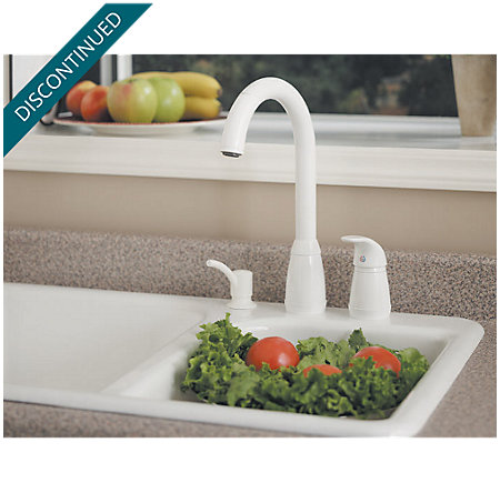 White Contempra 1-Handle Kitchen Faucet - 526-50WW - 2