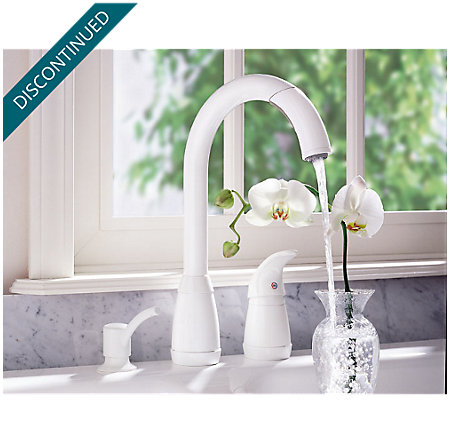 White Contempra 1-Handle Kitchen Faucet - 526-50WW - 4