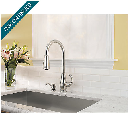 Stainless Steel Treviso 1-Handle, Pull-Down Kitchen Faucet - 529-7DSS - 2
