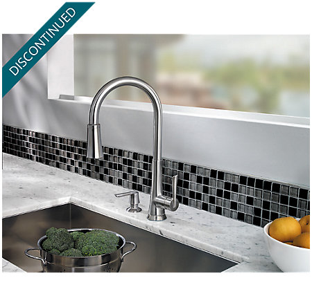 Stainless Steel Mystique 1-Handle, Pull-Down Kitchen Faucet - 529-7MDS - 6