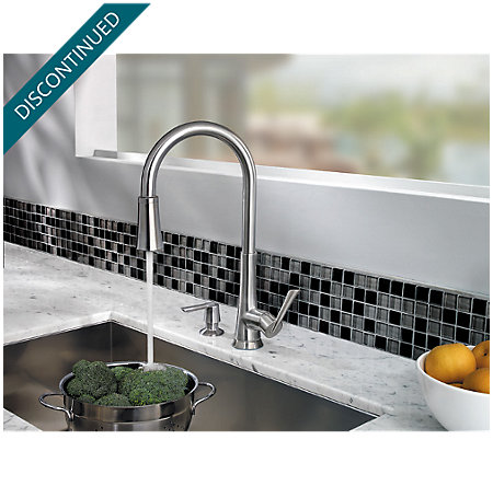 Stainless Steel Mystique 1-Handle, Pull-Down Kitchen Faucet - 529-7MDS - 7