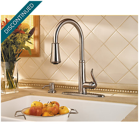 Stainless Steel Ashfield 1-Handle, Pull-Down Kitchen Faucet - 529-7YPS - 5