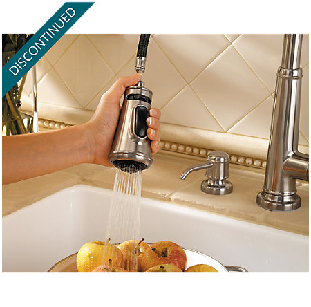 Stainless Steel Ashfield 1-Handle, Pull-Down Kitchen Faucet - 529-7YPS - 8