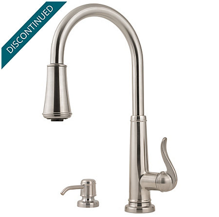 Stainless Steel Ashfield 1-Handle, Pull-Down Kitchen Faucet - 529-7YPS - 1