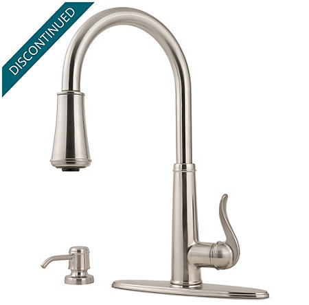 Stainless Steel Ashfield 1-Handle, Pull-Down Kitchen Faucet - 529-7YPS - 2