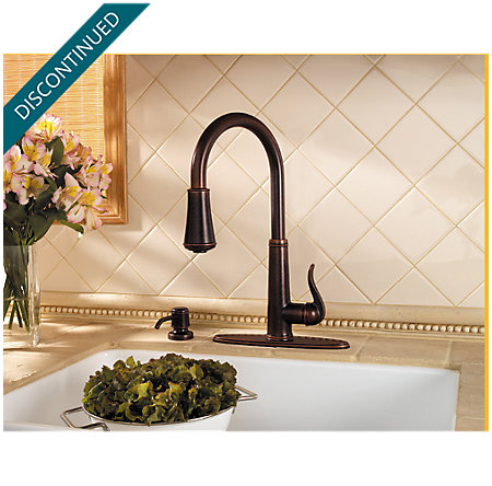 Rustic Bronze Ashfield 1-Handle, Pull-Down Kitchen Faucet - 529-7YPU - 5