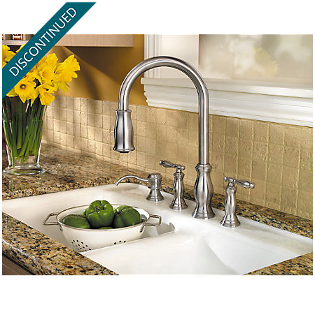 Stainless Steel Hanover 2-Handle, Pull-Down Kitchen Faucet - 531-4TMS - 2