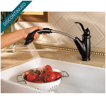 Tuscan Bronze Marielle 1-Handle, Pull-out/Pull-Down Kitchen Faucet - 532-70YY - 2