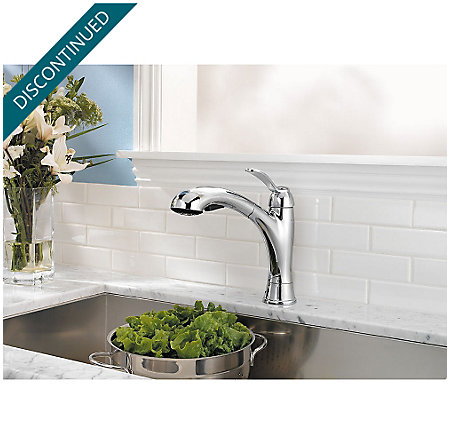 Polished Chrome Clairmont 1-Handle, Pull-out/Pull-Down Kitchen Faucet - 534-7CMC - 3