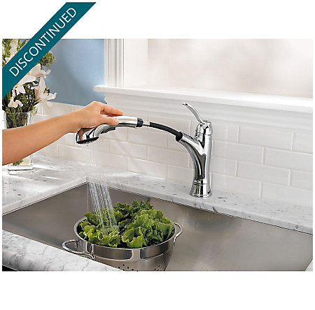 Polished Chrome Clairmont 1-Handle, Pull-out/Pull-Down Kitchen Faucet - 534-7CMC - 4