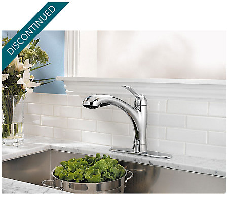 Polished Chrome Clairmont 1-Handle, Pull-out/Pull-Down Kitchen Faucet - 534-7CMC - 7