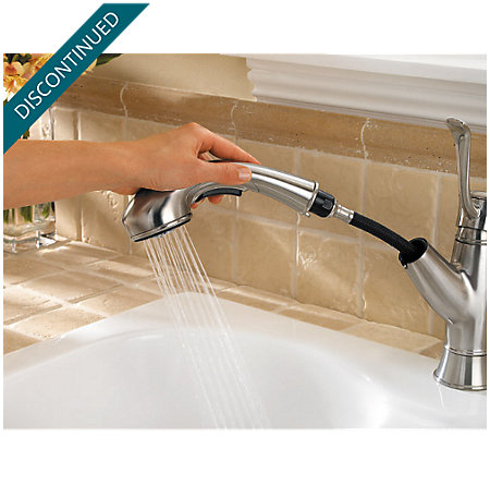 Stainless Steel Picardy 1-Handle, Pull-Out Kitchen Faucet - 534-7RDS - 7