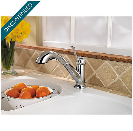 Polished Chrome Bixby 1-Handle, Pull-out/Pull-Down Kitchen Faucet - 538-5LCC - 3