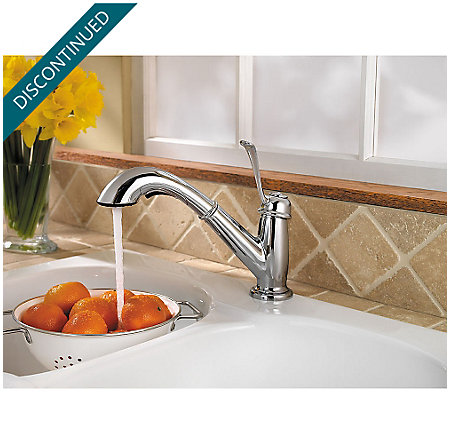 Polished Chrome Bixby 1-Handle, Pull-out/Pull-Down Kitchen Faucet - 538-5LCC - 4