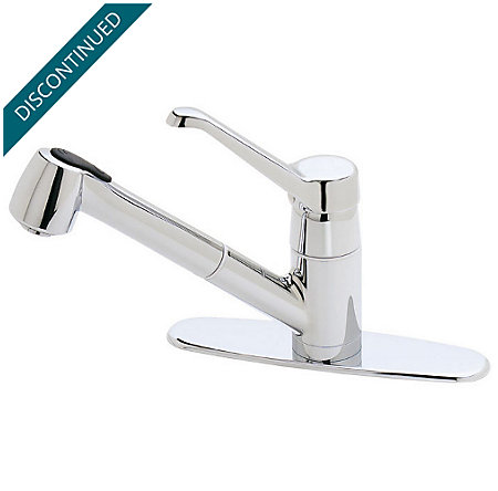 Polished Chrome Classic 1-Handle, Pull-out/Pull-Down Kitchen Faucet - 538-60CC - 1