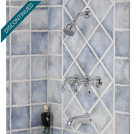 Polished Chrome Treviso Tub & Shower Combo - 801-DC00 - 2