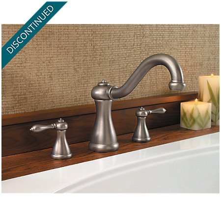 Rustic Pewter Marielle 3 Hole Roman Tub - 806-M0BE - 2