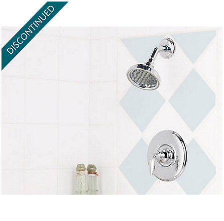 Polished Chrome Avalon 1-Handle Shower, Complete with Valve - 808-5CBC - 3