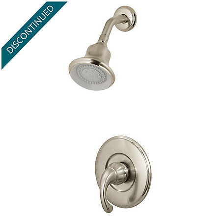 Brushed Nickel Treviso 1-Handle Shower, Complete with Valve - 808-5DK0 - 1