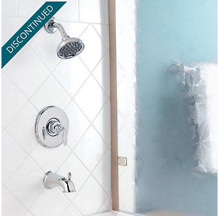 Polished Chrome Avalon 1-Handle Tub & Shower, Complete with Valve - 808-CB0C - 2