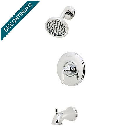 Polished Chrome Avalon 1-Handle Tub & Shower, Complete with Valve - 808-CB0C - 1