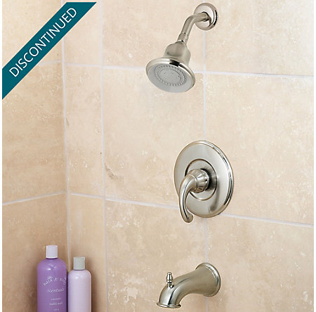 Brushed Nickel Treviso 1-Handle Tub & Shower, Complete with Valve - 808-DK00 - 2