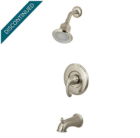 Brushed Nickel Treviso 1-Handle Tub & Shower, Complete with Valve - 808-DK00 - 1