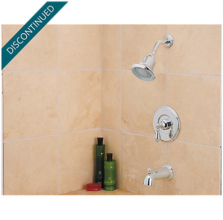 Polished Chrome Catalina 1-Handle Tub & Shower, Complete with Valve - 808-E0BC - 2