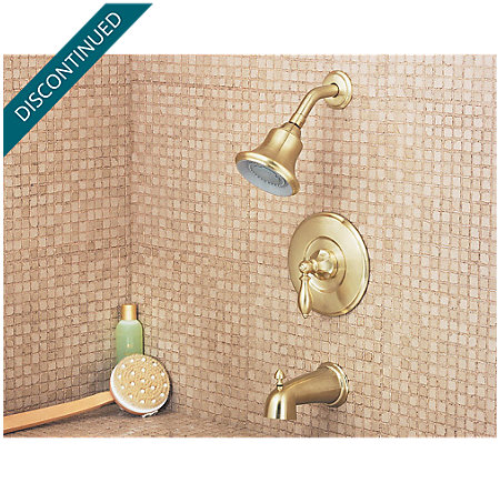 Polished Brass Catalina Tub & Shower Combo - 808-E0BF - 2