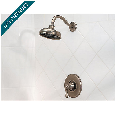 Rustic Pewter Marielle Tub & Shower Combo - 808-M0BE - 2