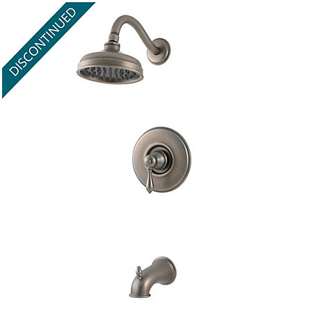 Rustic Pewter Marielle Tub & Shower Combo - 808-M0BE - 1