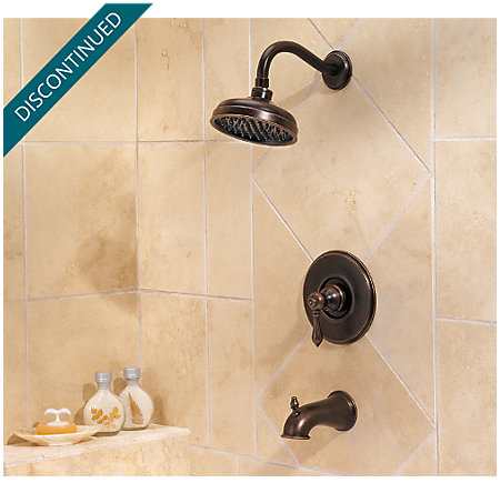 rustic bronze marielle tub & shower combo - 808-m0bu - 2