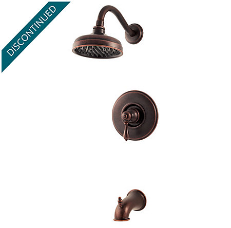 rustic bronze marielle tub & shower combo - 808-m0bu - 1