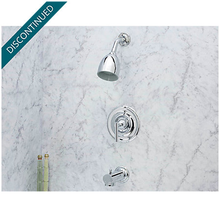 Polished Chrome Contempra Tub & Shower Combo - 808-NC00 - 2