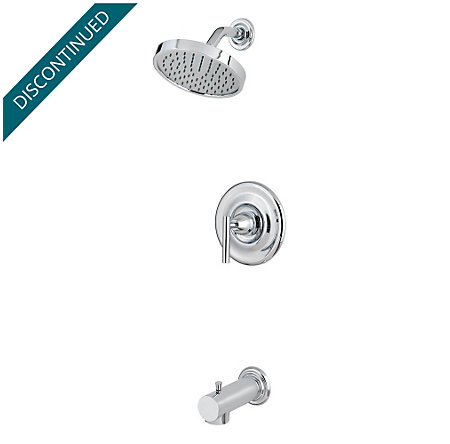Polished Chrome Contempra 1-Handle Tub & Shower, Complete with Valve - 808-NC10 - 1