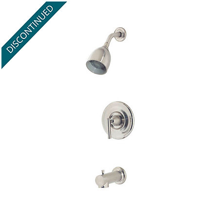 Brushed Nickel Contempra Tub & Shower Combo - 808-NK00 - 1
