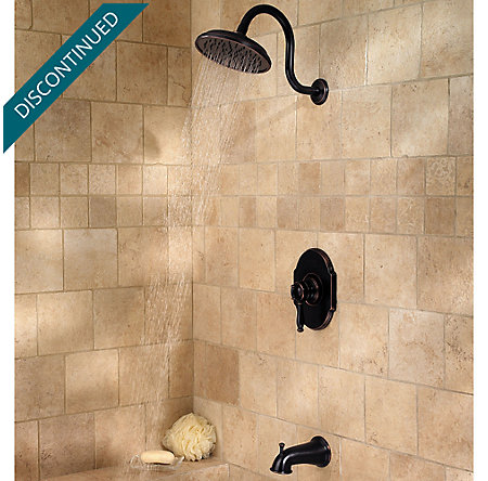 Tuscan Bronze Hanover 1-Handle Tub & Shower, Complete with Valve - 808-TMYY - 3