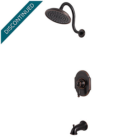 Tuscan Bronze Hanover 1-Handle Tub & Shower, Complete with Valve - 808-TMYY - 1