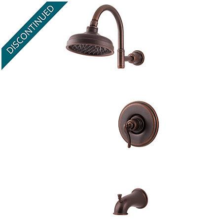 Rustic Bronze Ashfield 1-Handle Tub & Shower, Complete with Valve - 808-YP0U - 1
