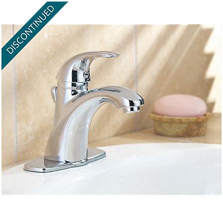 Polished Chrome Parisa Single Control, Centerset Bath Faucet - 8A2-VC00 - 3