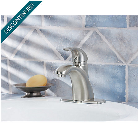 Brushed Nickel Parisa Single Control, Centerset Bath Faucet - 8A2-VK00 - 2
