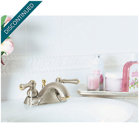 Brushed Nickel / Polished Brass Georgetown Centerset Bath Faucet - 8B5-8PMK - 2