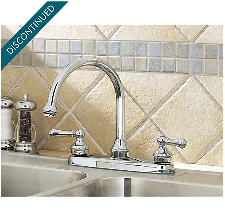 Polished Chrome Savannah 2-Handle Kitchen Faucet - 8H6-84BC - 2