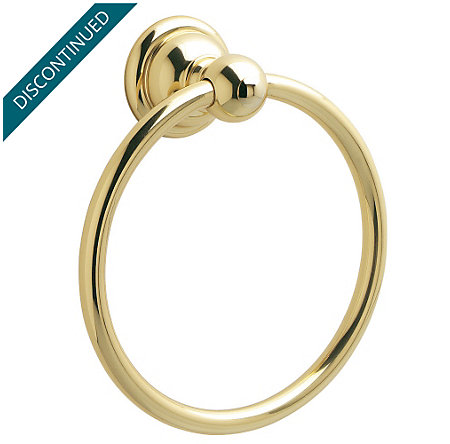 Polished Brass Georgetown Towel Ring - BRB-B0PP - 1