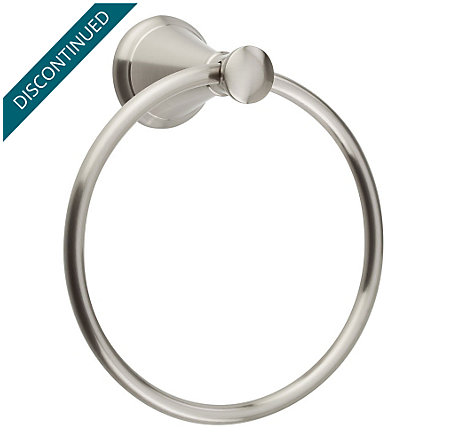 Brushed Nickel Pasadena Towel Ring - BRB-P1KK - 1