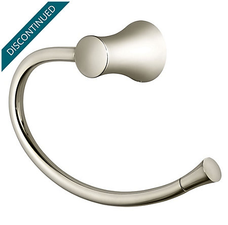 Polished Nickel Iyla Towel Ring - BRB-TR0D - 1