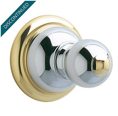 polished chrome / polished brass georgetown robe hook - brh-b0cb - 1